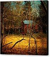 House In The Forest Canvas Print by Joyce Kimble Smith