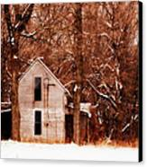 House In The Woods Canvas Print by Cheryl Helms