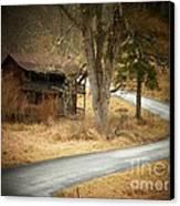 House On A Curve Canvas Print by Joyce Kimble Smith