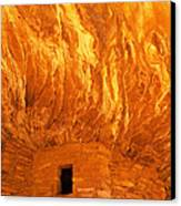 House On Fire Ruin Portrait 3 Canvas Print by Bob and Nancy Kendrick