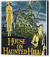 House On Haunted Hill, Alternate Poster Canvas Print