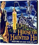House On Haunted Hill, Left Vincent Canvas Print