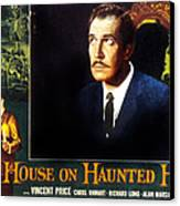 House On Haunted Hill, Vincent Price Canvas Print by Everett