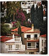 Houses On The Hill Nerja Canvas Print by Mary Machare