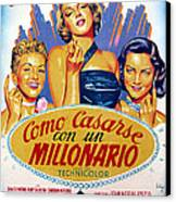 How To Marry A Millionaire, Betty Canvas Print