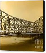 Howrah Bridge Canvas Print by Mukesh Srivastava