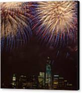 Hudson River Fireworks Xi Canvas Print