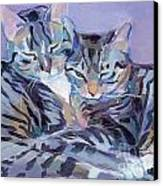 Hugs Purrs And Stripes Canvas Print by Kimberly Santini