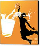 I Can Dunk Canvas Print by Laura Brightwood