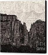 I Have Climbed  A Mountain Canvas Print
