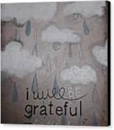 I Will Be Grateful Canvas Print by Salwa  Najm