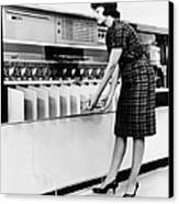 Ibm 1419 Magnetic Character Reader Read Canvas Print