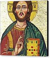 Icon Of Jesus As Christ Pantocrator Canvas Print by Ion vincent DAnu