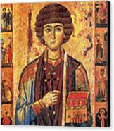 Icon Of Saint Pantaleon Canvas Print by Science Source