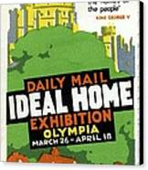 Ideal Home Exhibition Stamp, 1920 Canvas Print by Cci Archives