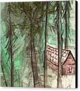 Imaginary Cabin Canvas Print