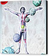Immune System Components Canvas Print by Hans-ulrich Osterwalder