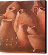 Imperfect Indian Pottery Canvas Print by Janna Columbus