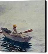 In A Boat Canvas Print by Winslow Homer
