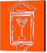 In Case Of Emergency - Drink Martini - Orange Canvas Print