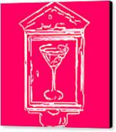 In Case Of Emergency - Drink Martini - Pink Canvas Print by Wingsdomain Art and Photography