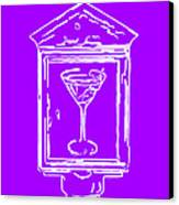In Case Of Emergency - Drink Martini - Purple Canvas Print