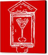 In Case Of Emergency - Drink Martini - Red Canvas Print by Wingsdomain Art and Photography