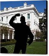In The Rose Garden President Obama Canvas Print by Everett