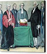 Inauguration Of George Washington, 1789 Canvas Print by Photo Researchers