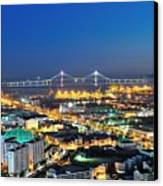 Incheon City Canvas Print by Tokism