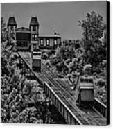 Incline Bw Canvas Print by Arthur Herold Jr