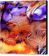 Indigo Brown Orange Yellow And Silver  Canvas Print