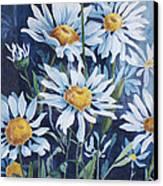 Indigo Daisies Canvas Print by Yvonne Scott