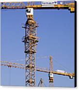 Industrial Cranes Canvas Print
