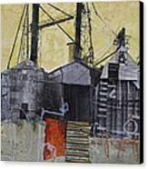 Industrial Landscape 1 Canvas Print by Elena Nosyreva