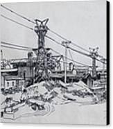 Industrial Site Canvas Print by Ylli Haruni
