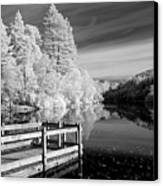 Infrared Glencoe Lochan Canvas Print