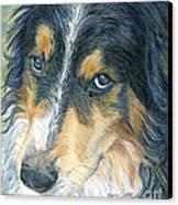 Innocent Eyes Canvas Print by Karen Curley