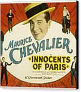 Innocents Of Paris, Maurice Chevalier Canvas Print by Everett
