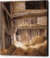 Inside Keeler's Barn Canvas Print