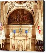 Inside St Louis Cathedral Jackson Square French Quarter New Orleans Diffuse Glow Digital Art Canvas Print