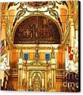 Inside St Louis Cathedral Jackson Square French Quarter New Orleans Digital Art Canvas Print