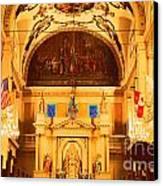 Inside St Louis Cathedral Jackson Square French Quarter New Orleans Film Grain Digital Art Canvas Print