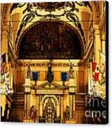Inside St Louis Cathedral Jackson Square French Quarter New Orleans Fresco Digital Art Canvas Print by Shawn O'Brien