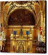 Inside St Louis Cathedral Jackson Square French Quarter New Orleans Poster Edges Digital Art Canvas Print by Shawn O'Brien