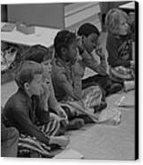 Integrated First Grade Class Of African Canvas Print