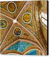 Interior St Francis Basilica Assisi Italy Canvas Print by Jon Berghoff