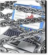 Internet Censorship, Conceptual Artwork Canvas Print by David Mack
