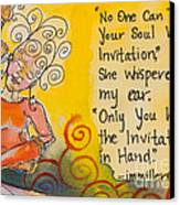 Invitation In Hand Canvas Print by Ilisa Millermoon