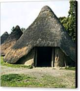 Iron Age Roundhouse Canvas Print by Sheila Terry